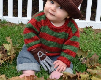 Freddy Krueger Baby Outfit (0-3 Months)