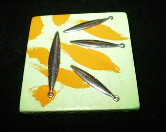 """Hand painted/made """"Sunburst"""" brooch, eco-friendly findings"""