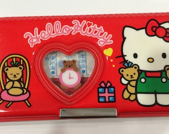 Vintage Hello Kitty Pencil Case 1993 Sanrio made in Japan