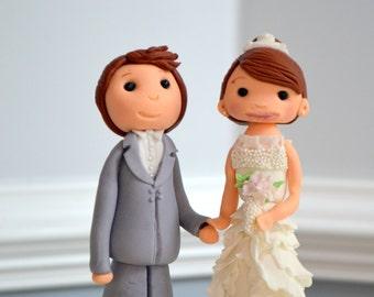 Whimsical Edible Wedding Cake Toppers