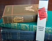 Book Spine Bookmark, Correlated Dictation