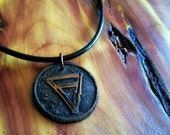 Etched Earth Necklace