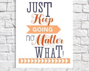 Art Print Inspirational Quote Motivational Print Wall Art