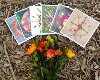Earth Offering set of 6 Mandala art cards