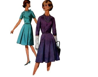 60s uncut Dress pattern Fit and Flare vintage 36-28-38 uncut madmen day dress