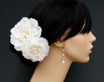 Wedding Hair Flowers, Bridal Hair Piece, Wedding Headpiece, Bridal Flower Hair Accessories - Delicate and Enlightenment 2 PIece Set