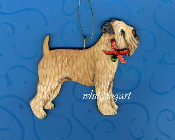 Handpainted Soft Coated Wheaten Terrier Christmas Ornament