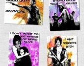Walking Dead Magnet Set - Original Pop-Art with Water Colors - Rick, Daryl, Maggie, Glenn, and Michonne