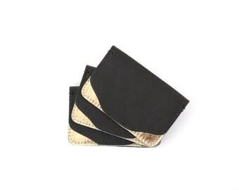 Black/Gold Leather Wallet
