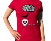 Death Raven T-shirt - Mens and Ladies Sizes - Cute Funny Skull and Raven TShirt