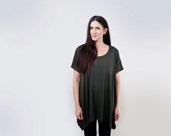 Oversized Loose Top • Shirt Sleeve • Asymmetric Shirt • Loft 415 Clothing (No. 746)
