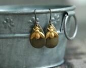 Bee Earrings . Girlfriend Gift Best Friend Gift . Boho Earrings . Bohemian Jewelry . Best Friend Birthday . Gift for Her . Gift for Women