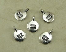 5 TierraCast Round Equality Charms > Human Equal Rights Race Sex Religion - Silver Plated Lead Free pewter Ship Internationally 2402