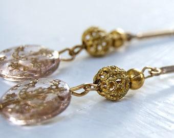 Celestial Dream Moon and Star Dangle Earrings / Moon and Stars / Universe Earrings