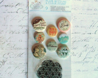 Prima: Princess Collection - Flair Buttons and Clear Stamp by Jodie Lee