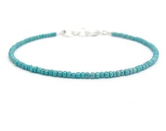 Friendship Bracelet,  Turquoise Friendship Bracelet, Turquoise bracelet, seed bead bracelet, beaded bracelet, blue bracelet, seed bead