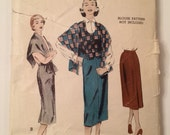Vintage Pattern 1950's Trio of Weskit, Stole and Skirt  Butterick 6652