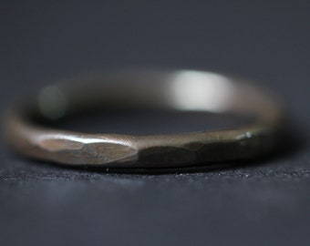 Faceted Band Stacking Ring