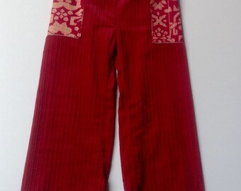Girls Corduroy Pants with side pockets  - Size 4