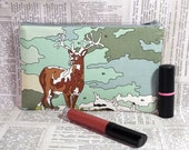 reserved for Katie - Paint by Numbers Deer Zipper Pouch