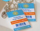 SCIENCE Party Lab ID Badges (Blue) - DIY Printable - Customised PDFs