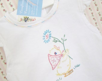 Little Quack Pinafore Dress - Hand Embroidered (Made to Order)