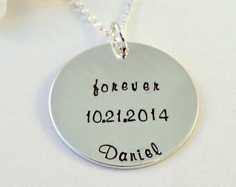 Forever Family Adoption Necklace, Forever Necklace, Forever, Adoption Necklace, Personalized Adoption Necklace, Sterling Silver