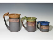 Custom name 20-24oz mug, gift for him, large, lightweight, personalized pottery, Ceramic Cup, Made to Order