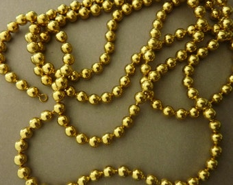 Vintage Brass Ball Chain Necklace 36 in