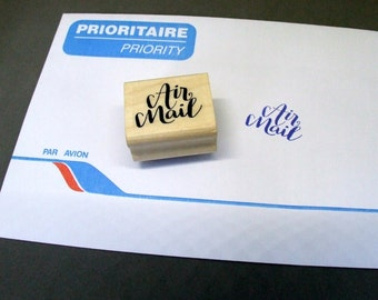 Air Mail Stamp, Modern Calligraphy Airmail Rubber Stamp for snail mail, packaging, scrapbooking, wedding invitations