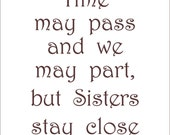 Fabric Art Panel -Sisters Time