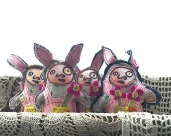 Ms Harriet - jotbOts Little Rabbit - Upcycled Plush by Brilliant Stranger