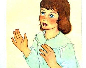 Peter Pan - Wendy - 1957 Vintage Book Page - Illustrated by Marjorie Torrey - 9 x 7