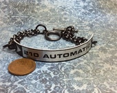 Real Steampunk handmade bracelet from typewriter tag - Mechanical Romance -