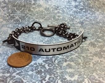Real Steampunk handmade bracelet from typewriter tag - Mechanical Romance -