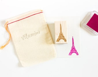 Eiffel Tower Rubber Stamp / French Stamp / Illustration / Cute Stamp / Hand Drawn