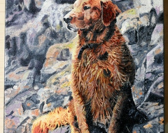 Custom Dog Painting from Photo - 8x10 Pet Portrait Realistic - Gift Idea!