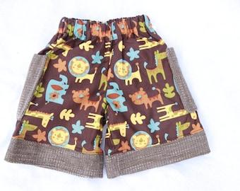 Safari Animals Boys Board Shorts Sz 3