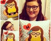 Custom Plush Portrait Pillows