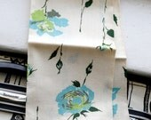Vintage NOS Martex Tea Towel - Dry me Dry - Original Paper Label - Linen Blend Rose Kitchen Hand 60s