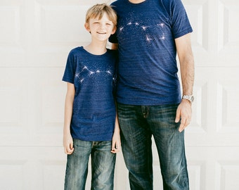 Big Dipper Little Dipper Tshirt set, graphic tees, father son, father daughter, dad and baby, gift for men, matching shirts, Father's Day