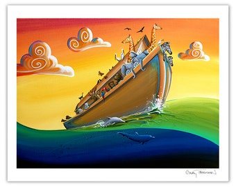 Seafarer Series Limited Edition - Noah's Ark - Journey To New Beginnings - Signed 8x10 Semi Gloss Print (15/25)