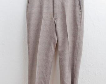 Men's Slacks / Vintage Brown Prince of Wales Plaid Dress Pants / Large 34x28