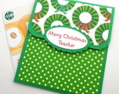 Teacher Christmas Gift Card Holder,  Merry Christmas Teacher, Teacher Gift Card Holder, Teacher Christmas Card, Teacher Gift Idea