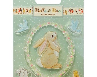 Belle & Boo Clear Stamps • Boo Stamp • Boo Rabbit Stamp (BBCS001)