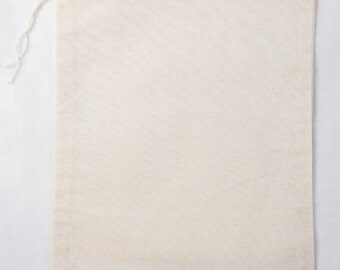 50 6x8 Natural Cotton Muslin Drawstring Bags