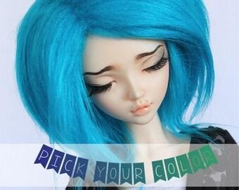 """MSD Doll  BJD wig 7"""" Short Pick Your Color fake fur wig  MonstroDesigns"""