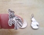 Jesus, Divine Mercy Charm, Holy Medal, Sorrowful Mother on Reverse Side, Catholic Jewelry Supplies