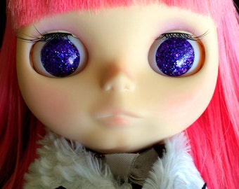Purple Holographic Resin Glitter Eye Chips for Blythe or Byul
