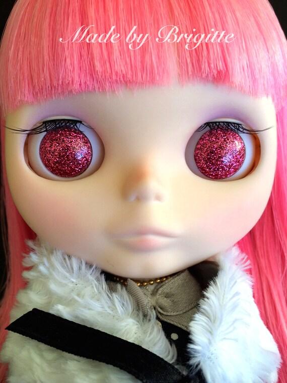 English Rose Resin Glitter Eye Chips for Blythe or Byul